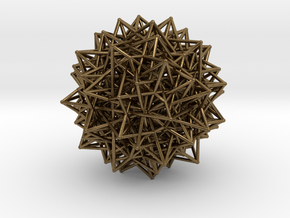 Compound of Fifteen 16-Cells,Variation 1 in Natural Bronze