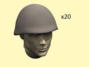 1/35 WW2 Soviet SSh40 helmets in Smoothest Fine Detail Plastic