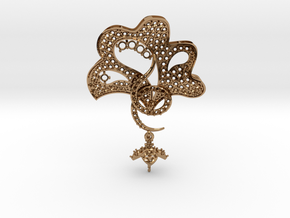 Pendant with three parts PS001000010 in Polished Brass
