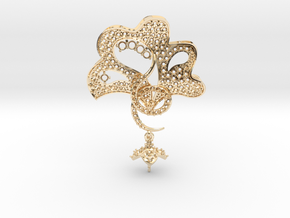 Pendant with three parts PS001000010 in 14K Yellow Gold