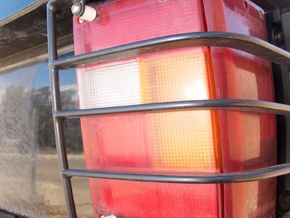 RR Tail Light Guard Support in White Natural Versatile Plastic