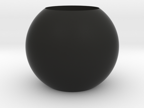 Acoustic Sphere (22mm mic) (40mm diameter) in Black Natural Versatile Plastic