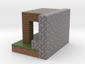 Minecraft Godes Fort Post in Full Color Sandstone