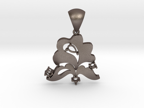 Pendant with bail PS001000020 in Stainless Steel