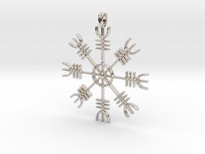 Aegishjalmur Icelandic Sign Viking Symbol Jewelry  in Platinum