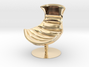 Lobster Armchair in 14K Yellow Gold