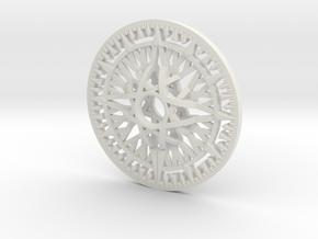 Arcanist's Pendant- 6 inch in White Natural Versatile Plastic