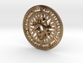 Archimedes Wheel - 6 inch in Natural Brass