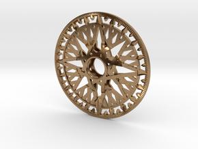 Archimedes Wheel - 20cm in Natural Brass