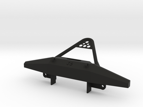 Bumper and stinger for 1:10 XJ hard body fitting G in Black Strong & Flexible