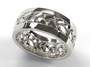 Braid Ring in Fine Detail Polished Silver: 9 / 59