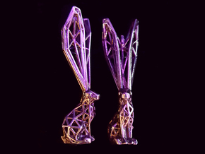 Wired Rabbit in Polished Silver