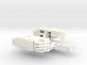 Aerial Guardian Arms in White Strong & Flexible Polished