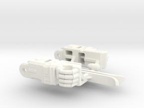 Aerial Guardian Arms in White Processed Versatile Plastic