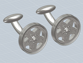 CUFFLINKS CROMODORA WHEEL STEEL in Polished Nickel Steel