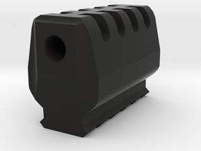 J.W. Airsoft Compensator (14mm Self-Cutting) in Black Natural Versatile Plastic