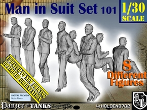 1/30 Man In Suit Set101 in White Natural Versatile Plastic