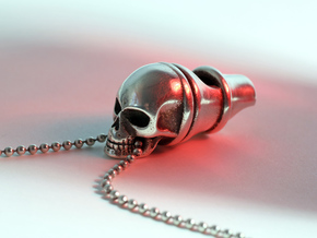 Silver Whistle of the Dead in Polished Silver