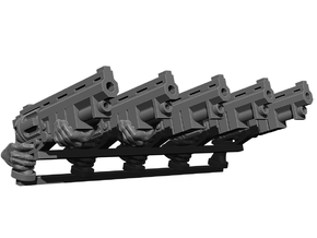 Revolver Rifle Weapons Pack in Smooth Fine Detail Plastic