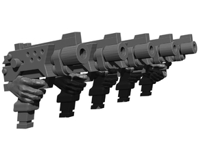 Automatic Pistol Weapons Pack in Smooth Fine Detail Plastic