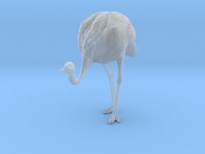 Ostrich 1:22 Head Down in Smooth Fine Detail Plastic