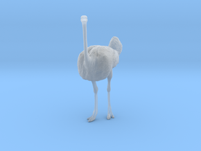 Ostrich 1:22 Standing Calm in Smooth Fine Detail Plastic