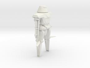 Maximillian Robot in White Natural Versatile Plastic