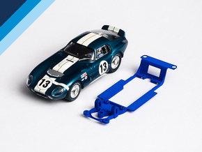 1/32 Monogram Cobra Daytona Chassis for Slot.it SW in White Natural Versatile Plastic