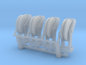 Hose Reel 4pack 1-87 HO Scale in Smooth Fine Detail Plastic
