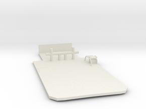 Main Deck Inlay 1/144 V56 fits Harbor Tug  in White Natural Versatile Plastic