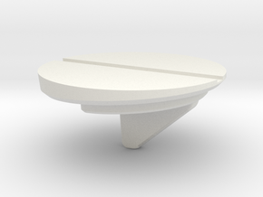 DISC1-02-WH-2B-AFT-STRIPE in White Natural Versatile Plastic