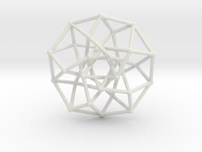 4D Archimedean Hyperform Toroidal Projection in White Natural Versatile Plastic