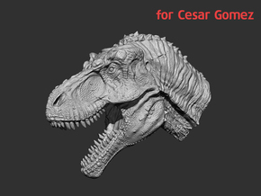 Tyrannosaurus Head & Neck (1:35) for Cesar Gomez in White Strong & Flexible