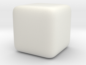 justCube in White Natural Versatile Plastic
