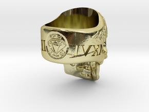 =EPIC CESAR SKULL RING= Size 11.5 in 18k Gold Plated Brass