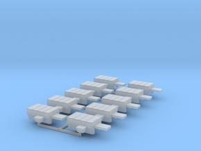 H0 1:87 Weichenantriebsattrappe (10 Stk) in Smooth Fine Detail Plastic