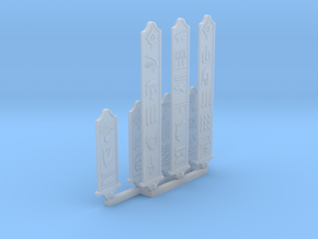 Egyptian Cartouches 28mm Scale in Frosted Extreme Detail