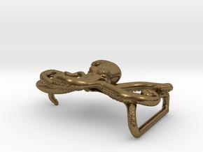 Octopus Belt Buckle in Natural Bronze
