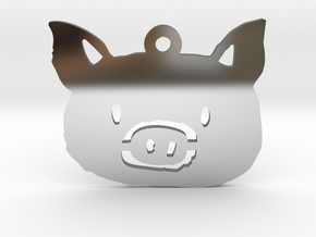 pig in Fine Detail Polished Silver