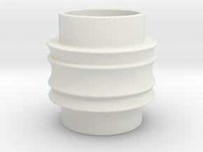 Male Adapter in White Natural Versatile Plastic