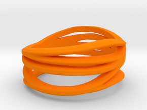 Benin voodoo ring - orange in Orange Processed Versatile Plastic: Medium