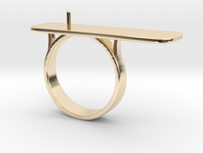 Anniversary ring with Pearl - RS000100091 in 14K Yellow Gold: 4 / 46.5