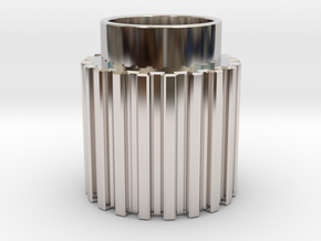 Chamfer Tooth Gear in Platinum