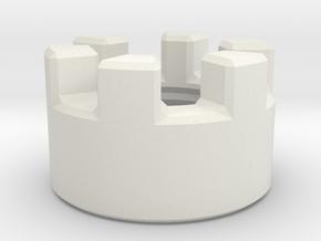 Crenulated Emitter in White Natural Versatile Plastic
