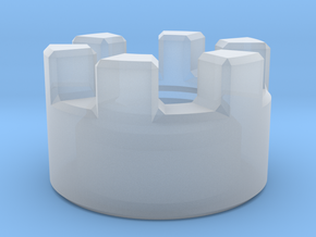 Crenulated Emitter in Smooth Fine Detail Plastic