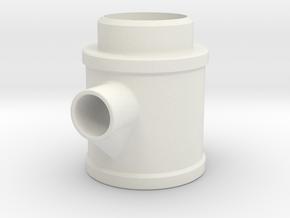 Cross Exhaust in White Natural Versatile Plastic