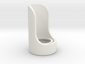Cutaway Emitter in White Natural Versatile Plastic