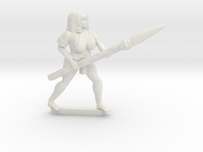 Lois with spear in White Natural Versatile Plastic
