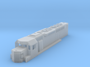 N Scale SDP40 shell in Smooth Fine Detail Plastic