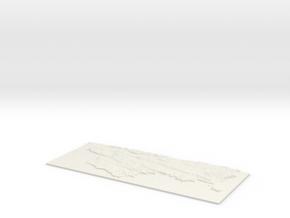 Pembroke and Tenby W182 S192 E216 N206  in White Natural Versatile Plastic